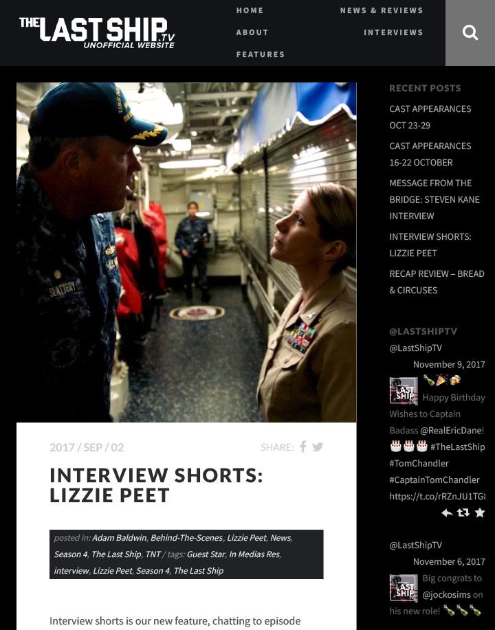 Lizzie Peet – Actress • Film • TV • Theater